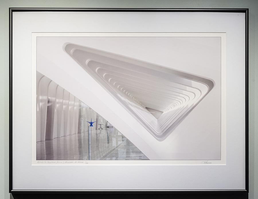 """Framed Size 20""""h x 26""""w, $625<br /> Graphite Nielsen 15 metal frame"""