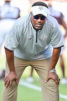 Texas A&M Head Coach Kevin Sumlin before NCAA Football game kickoff, Saturday, September 06, 2014 in College Station, Tex. (Mo Khursheed/TFV Media via AP Images)