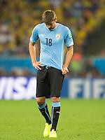 Gaston Ramirez of Uruguay looks dejected