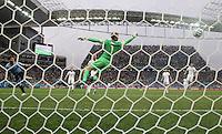 Luiz Suarez scores for uruguay 1-0