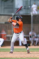 San Francisco Giants first baseman Skyler Ewing (26) during an Instructional League game against the Oakland Athletics on October 15, 2014 at Papago Park Baseball Complex in Phoenix, Arizona.  (Mike Janes/Four Seam Images)