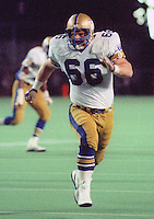 Pieter Vanden Bos Winnipeg Blue Bombers 1984. Photo F. Scott Grant