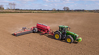 Drilling spring barley with Horsh 13.4m drill - Suffolk, April