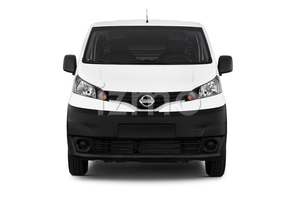 Car photography straight front view of a 2015 Nissan NV200 Visia 5 Door Cargo Van