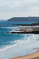 France, Côtes-d'Armor (22), Côte d'Emeraude, Cap Frehel, Plévenon : Plage de  Pléherel// France, Brittany, Cotes-D'Armor,  Emeraude coast , Cap Frehel, Pleherel Beach