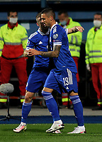 8th October 2020, Sarajevo Bosnia; European International Football Championships playoff,  Bosnia and Herzegovina versus Northern Ireland;  Rade Krunic Bosnia and Herzegovina celebrate his goal and the first goal on match in minute 13 for 1-0