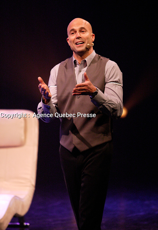April 2007 File Photo.<br /> Marc Boilard, stand up comic performing at the GESU in Montreal
