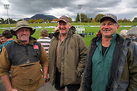 The Hansen brothers, from left: Bruce, Tony and Gordon, after the 2021 Bunnings Super Rugby Aotearoa Under-20 rugby match between the Hurricanes and Highlanders at Owen Delaney Park in Taupo, New Zealand on Tuesday, 14 April 2021. Photo: Dave Lintott / lintottphoto.co.nz