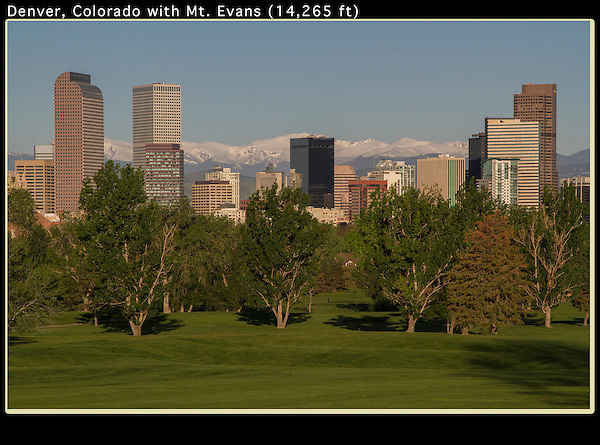 Downtown skyline from City Park, Denver, Colorado. .  John offers private photo tours in Denver, Boulder and throughout Colorado. Year-round Colorado photo tours.