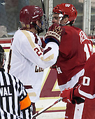 Bill Arnold (BC - 24), Nic Kerdiles (Wisconsin - 17) - The Boston College Eagles defeated the visiting University of Wisconsin Badgers 9-2 on Friday, October 18, 2013, at Kelley Rink in Conte Forum in Chestnut Hill, Massachusetts.