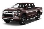 2020 Mitsubishi L200 Instyle 4 Door Pick-up Angular Front automotive stock photos of front three quarter view