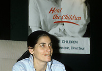 Montreal (Qc) Canada -File Photo of Naomie Bronstein circa 1985-1986.  Naomi Bronstein dedicated much of her life to humanitarian work in developing countries and helping Quebec families adoopt children from poor countries. She died in Guatemala ay age 65 in December 2010.<br /> <br /> <br /> <br /> PHOTO :  Agence Quebec Presse