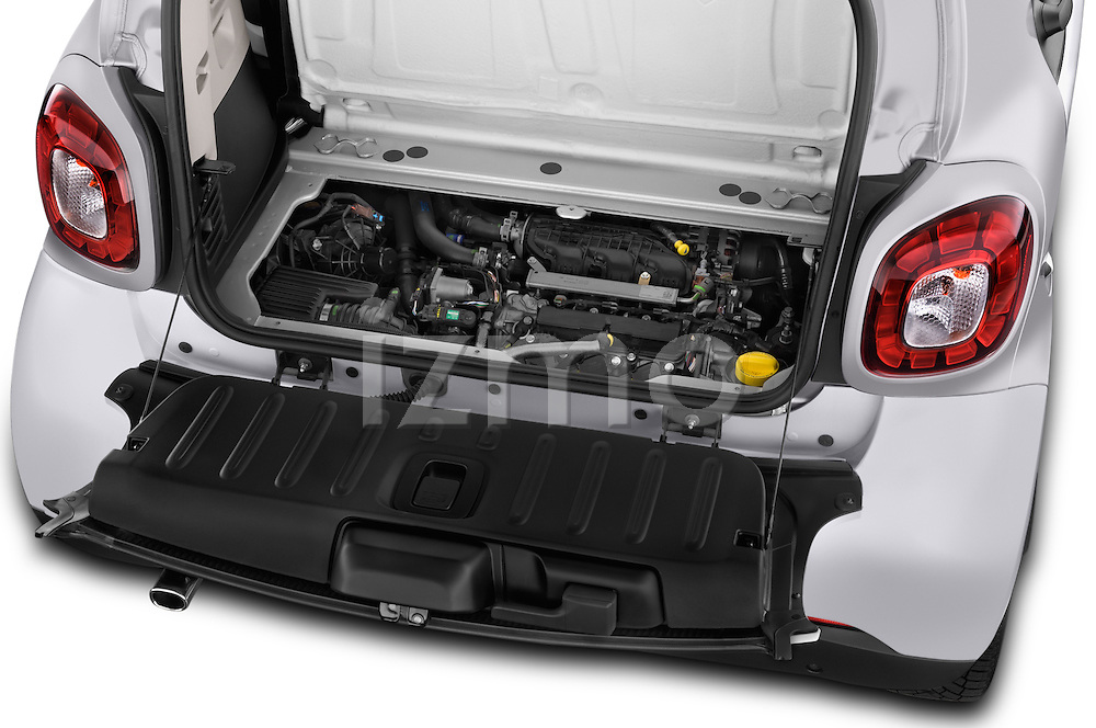 Car Stock 2016 Smart fortwo prime 3 Door Micro Car Engine  high angle detail view