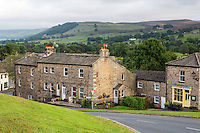 UK, England, Yorkshire, Reeth.  Village Scene in the Yorkshire Dales.