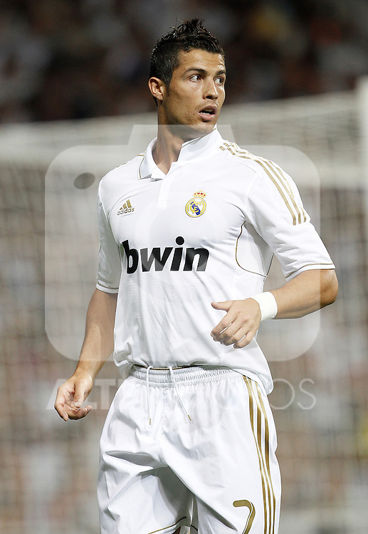 Real Madrid's Cristiano Ronaldo during Santiago Bernabeu Cup on august 24th 2011...Photo: Cesar Cebolla / ALFAQUI