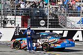 2017 NASCAR XFINITY Series - Rinnai 250<br /> Atlanta Motor Speedway, Hampton, GA USA<br /> Saturday 4 March 2017<br /> Kyle Busch, NOS Energy Drink Toyota Camry celebrates his win with a burnout<br /> World Copyright: Nigel Kinrade/LAT Images<br /> ref: Digital Image 17ATL1nk05658