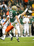 Baylor Bears punter Derek Epperson (38) punts the ball away during the 2010 Texas  Bowl football game between the Illinois  Fighting Illini and the Baylor Bears at the Reliant Stadium in Houston, Tx. Illinois defeats Baylor 38 to 14....