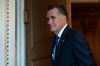 United States Senator Mitt Romney (Republican of Utah) departs Republican Senate luncheons on Capitol Hill in Washington D.C., U.S., on Tuesday, November 5, 2019.<br />  <br /> Credit: Stefani Reynolds / CNP /MediaPunch