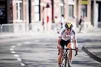 Mavi Garcia (ESP/Alé BTC Ljubljana) solo's towards teh finish with 1 lap to go<br /> <br /> Women Elite - Road Race (WC)<br /> from Antwerp to Leuven (158km)<br /> <br /> UCI Road World Championships - Flanders Belgium 2021<br /> <br /> ©kramon