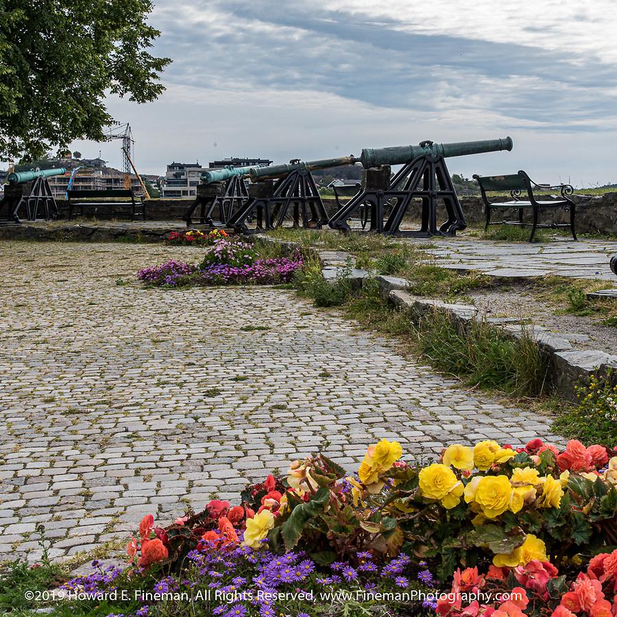 Symbolic cannons at Kristiansand harbor