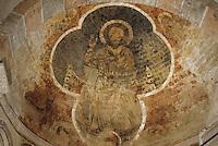 Europe/France/Midi-Pyrénées/09/Ariège/Saint-Lizier : La cathédrale - Fresques romanes du choeur - Christ en majesté