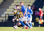 East Fife v St Johnstone...09.07.14  Pre-Season Friendly<br /> Scott Brown and Lewis Barr<br /> Picture by Graeme Hart.<br /> Copyright Perthshire Picture Agency<br /> Tel: 01738 623350  Mobile: 07990 594431