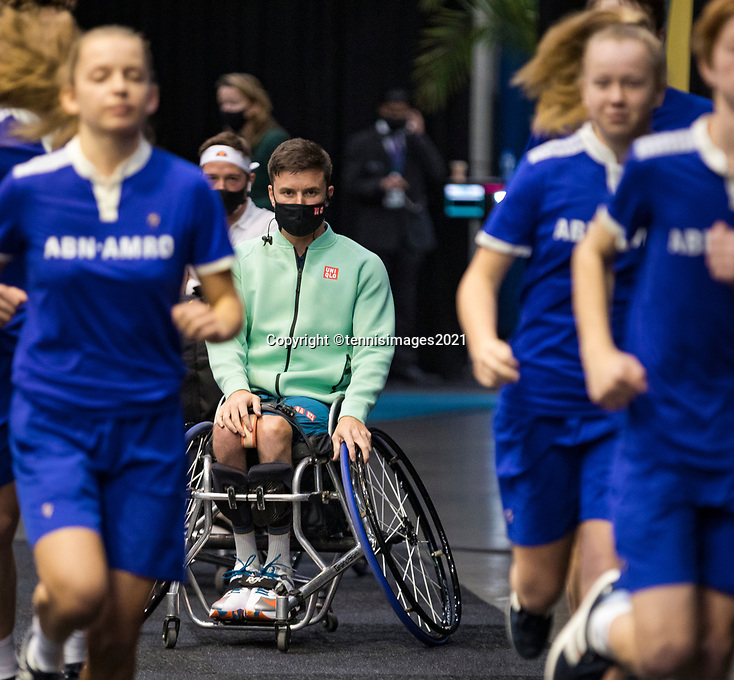 Rotterdam, The Netherlands,7 march  2021, ABNAMRO World Tennis Tournament, Ahoy,  <br /> Wheelchair final: Gordon Reid (GBR).<br /> Photo: www.tennisimages.com/