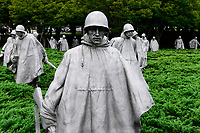 USA, Washington,  Korean War Veterans Memorial