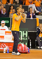 September 12, 2014, Netherlands, Amsterdam, Ziggo Dome, Davis Cup Netherlands-Croatia, Dutch captain Jan Siemerink<br /> Photo: Tennisimages/Henk Koster