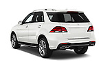 Car pictures of rear three quarter view of 2017 Mercedes Benz GLE-Class GLE550e-4MATIC® 5 Door SUV Angular Rear