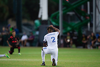 LAKE BUENA VISTA, FL - JULY 22: Kendall Waston #2 of FC Cincinnati before the game during a game between New York Red Bulls and FC Cincinnati at Wide World of Sports on July 22, 2020 in Lake Buena Vista, Florida.