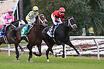 January 16, 2016: Chocolate Ride with Florent Geroux up takes the early lead during the Col. E.R. Bradley Handicap  race at the Fairgrounds race course in New Orleans Louisiana. Steve Dalmado/ESW/CSM