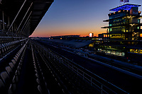 30th May 2021, Indianapolis, Indiana, USA;  A general view at sunrise of the main straightaway before the gates open to the public before the 105th running of the Indianapolis 500 on May 30, 2021 at the Indianapolis Motor Speedway in Indianapolis, Indiana.