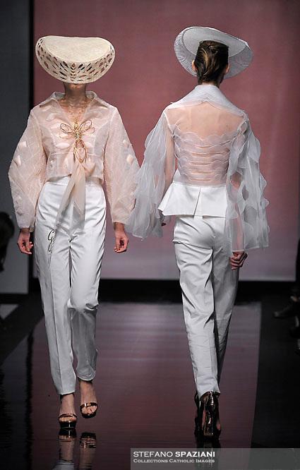 Italian fashion designer Gattinoni featured at Rome Fashion Week,Fashion show. Presentation of S/S 2013.Italian Haute Couture collection, January 28, 2013