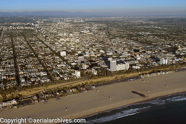aerial photograph of Santa Monica, Los Angeles County, California