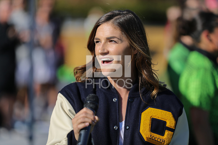 BERKELEY, CA - October 4, 2016: Cal Bears Women's Soccer team vs. Stanford Cardinal at Goldman Field. Final score, Cal Bears 1, Stanford Cardinal 4.