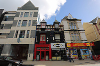 WORDS BY KARL WEST<br /> Pictured: A mixture of new and old buildings Friday 30 September 2016<br /> Re: The regeneration of the High Street in Swansea, Wales, UK
