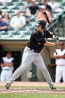 Louisville Bats first baseman Daniel Dorn #17 at bat during a game against the Rochester Red Wings at Frontier Field on May 12, 2011 in Rochester, New York.  Louisville defeated Rochester 5-2.  Photo By Mike Janes/Four Seam Images