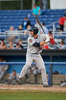 Mahoning Valley Scrappers first baseman Simeon Lucas (28) at bat during a game against the Batavia Muckdogs on August 16, 2017 at Dwyer Stadium in Batavia, New York.  Batavia defeated Mahoning Valley 10-6.  (Mike Janes/Four Seam Images)