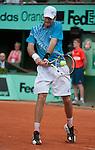 Brian Baker (USA) loses at Roland Garros in Paris, France on May 30, 2012