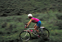 Lisa Fite (MR295) mountain biking near Keystone Ranch, Summit County, CO. Lisa Fite. Summit County, Colorado, Keystone Ranch.