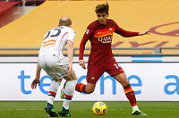 Roma's Gonzalo Villar, right, is challenged by Genoa's Andrea Masiello during the Italian Serie A Football match between Roma and Genoa at Rome's Olympic stadium, March 7, 2021.<br /> UPDATE IMAGES PRESS/Riccardo De Luca