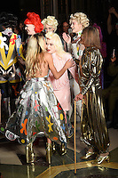 Alice Dellal, Pam Hogg and Anita Pallenberg<br /> at the Pam Hogg catwalk show as part of London Fashion Week SS17, Freemason's Hall, Covent Garden, London<br /> <br /> <br /> ©Ash Knotek  D3155  16/09/2016