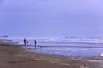 Lost Creek Beach, U.S. Highway 101, Pacific Coast Scenic Byway, near Newport, Oregon.  Oregon Central Coast, beaches, bays, bars, family fun, winter storms, lighthouses, fishing boats, bluffs, fossils and beach walks.