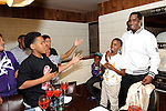 """Sean """"P Diddy"""" Combs, helps his son, Christian Combs and his friends, celebrate his 12th birthday at Lavo restaurant, Las Vegas, NV , April 1, 2010© Al Powers / RETNA ltd"""