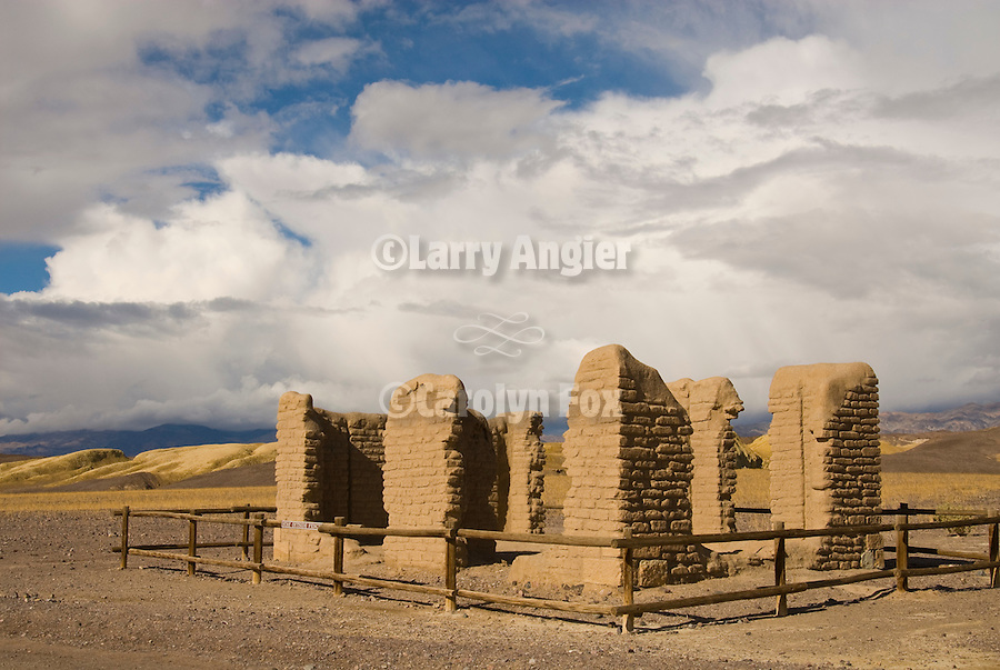 Ruins of the historic Harmony Borax works, Death Valley National park.