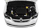 Car Stock 2019 Dodge Grand-Caravan GT 5 Door Minivan Engine  high angle detail view
