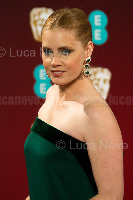 Amy Adams.<br /> <br /> London, 12/02/2017. Red Carpet of the 2017 EE BAFTA (British Academy of Film and Television Arts) Awards Ceremony, held at the Royal Albert Hall in London.<br /> <br /> For more information please click here: http://www.bafta.org/