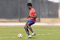 BRADENTON, FL - JANUARY 23: Aboubacar Keita passes the ball during a training session at IMG Academy on January 23, 2021 in Bradenton, Florida.