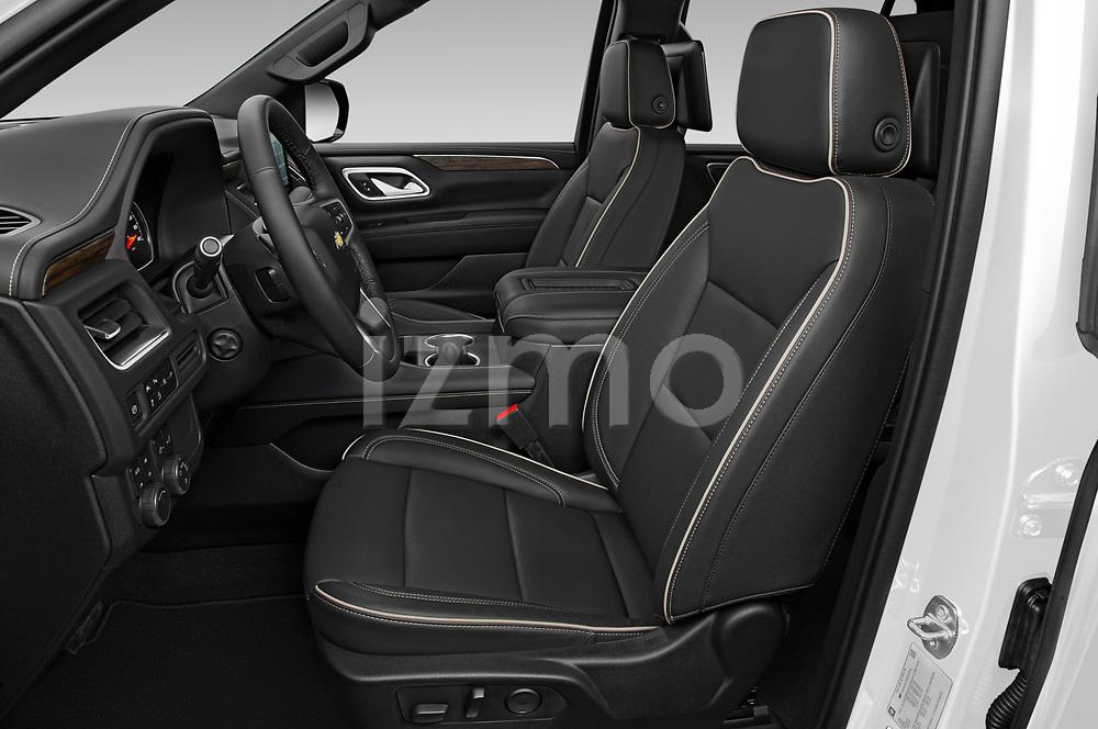Front seat view of a 2021 Chevrolet Tahoe Premier 5 Door SUV